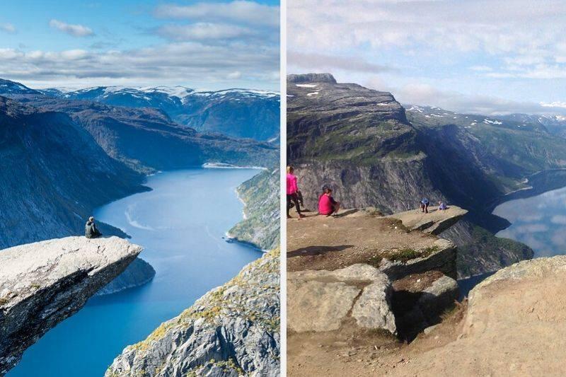 Trolltunga Norway instagram vs reality