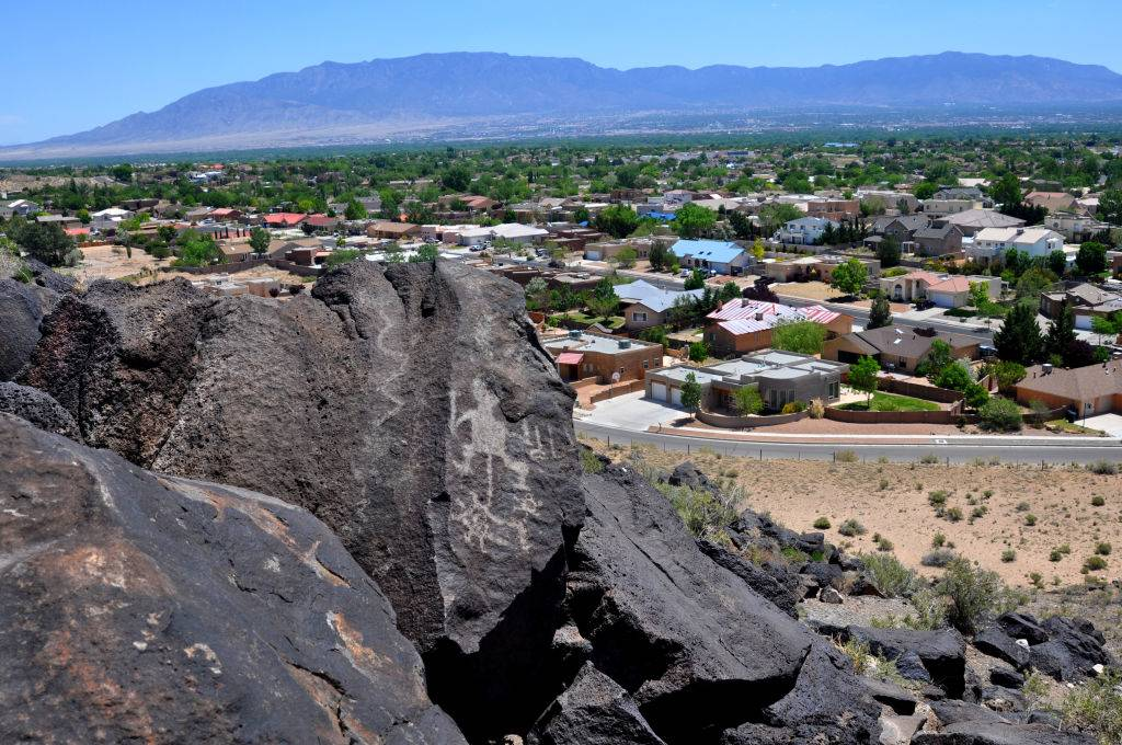 a hilltop view of albuquerque, new mexico
