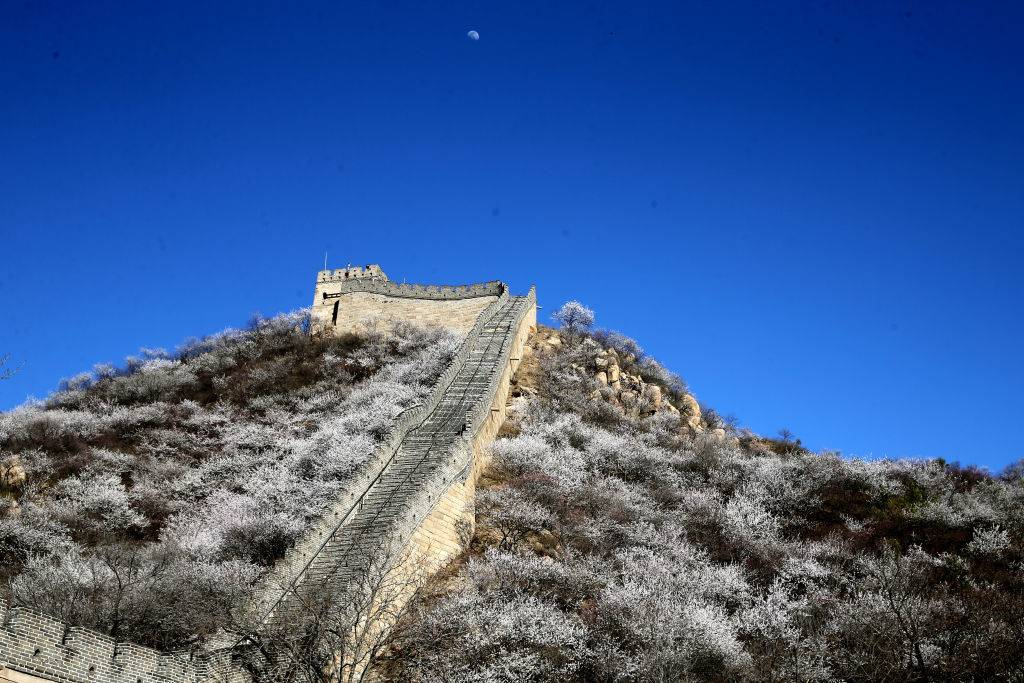 an empty great wall of china during the day