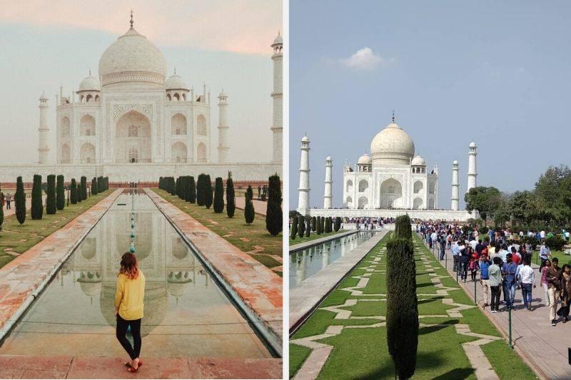 the taj mahal real life compared to insta