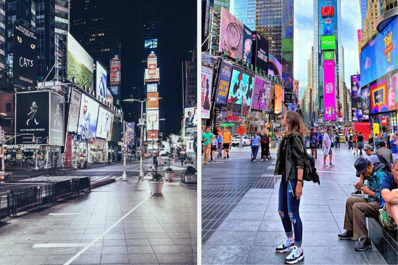 times square empty vs real life