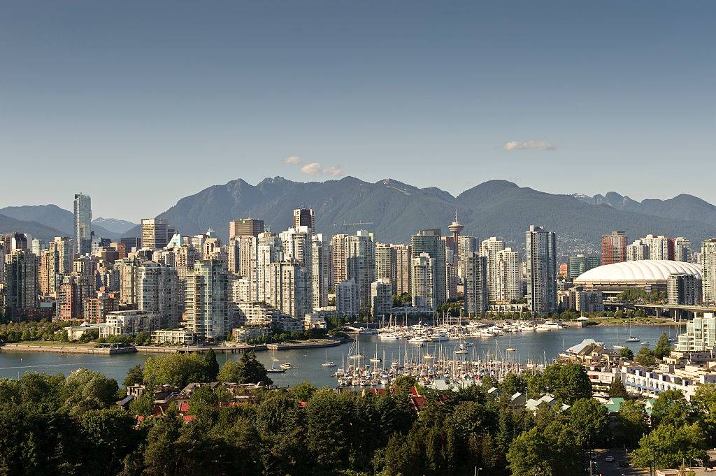 A view of the skyline of downtown Vancouver, Canada