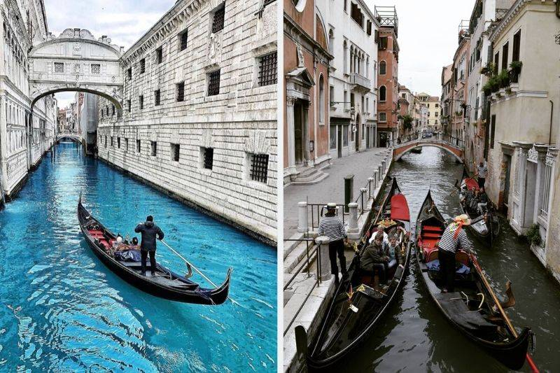 venice canals gondola ride