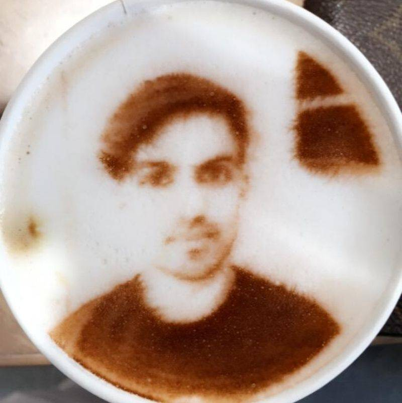 you can get your own picture printed on a latte