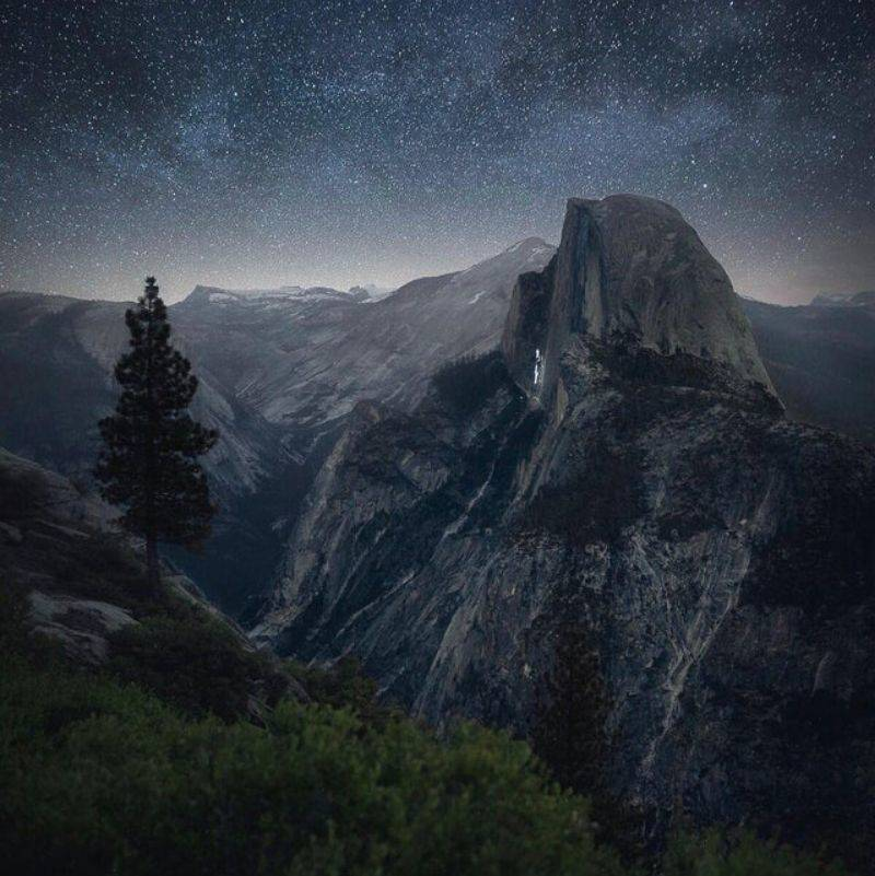 Yosemite national park at night time