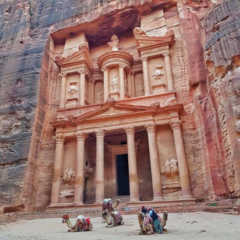 the Treasury of Petra in Jordan