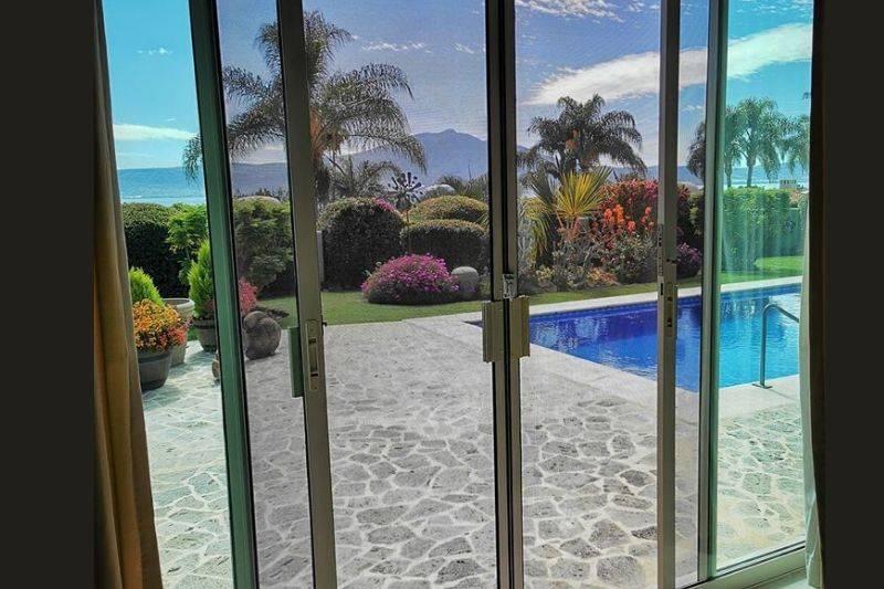 Ajijic Mexico view from the window