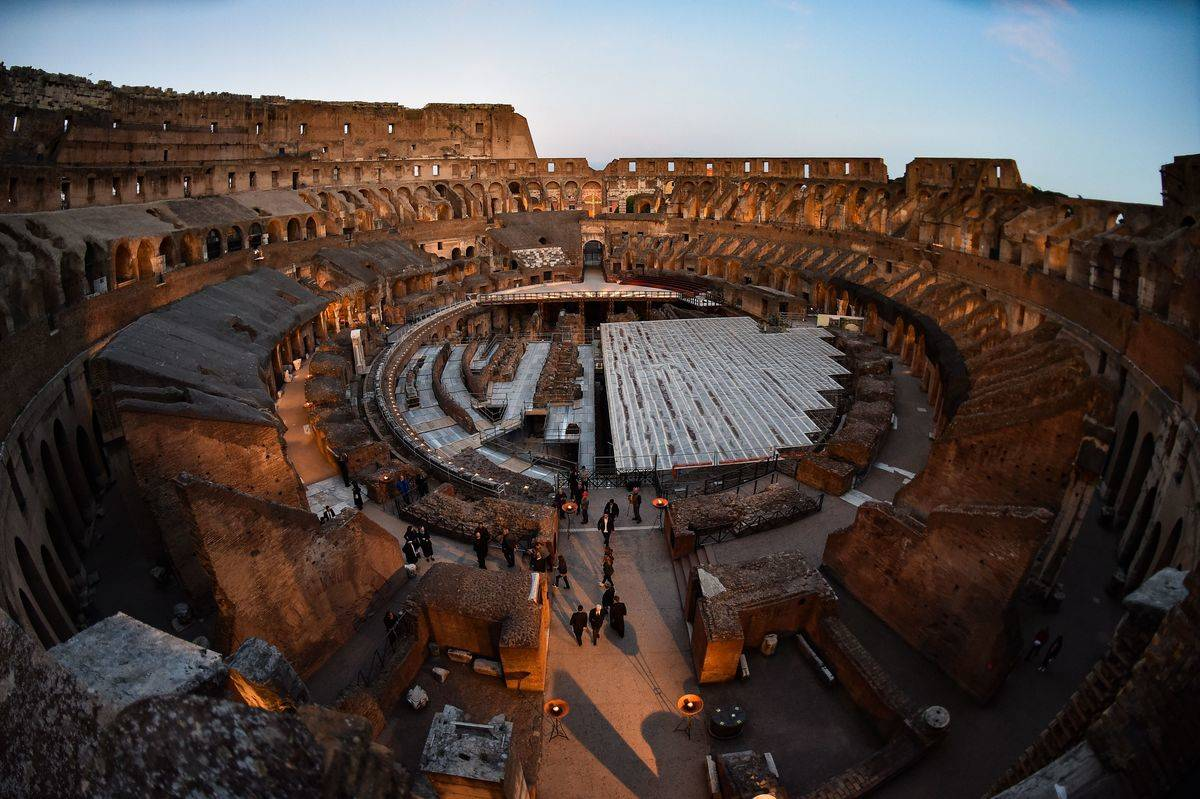 Under The Colosseum Is A Secret Storage Room