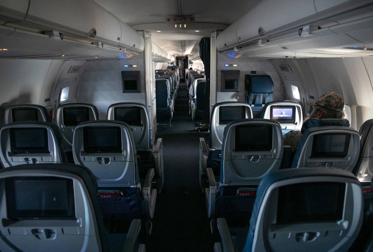 empty airplane seats in cabins