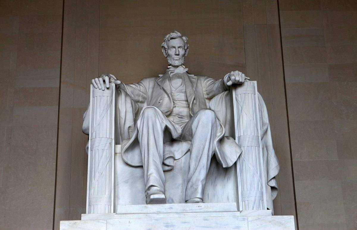 Honest Abe Has A Huge Basement Under His Feet