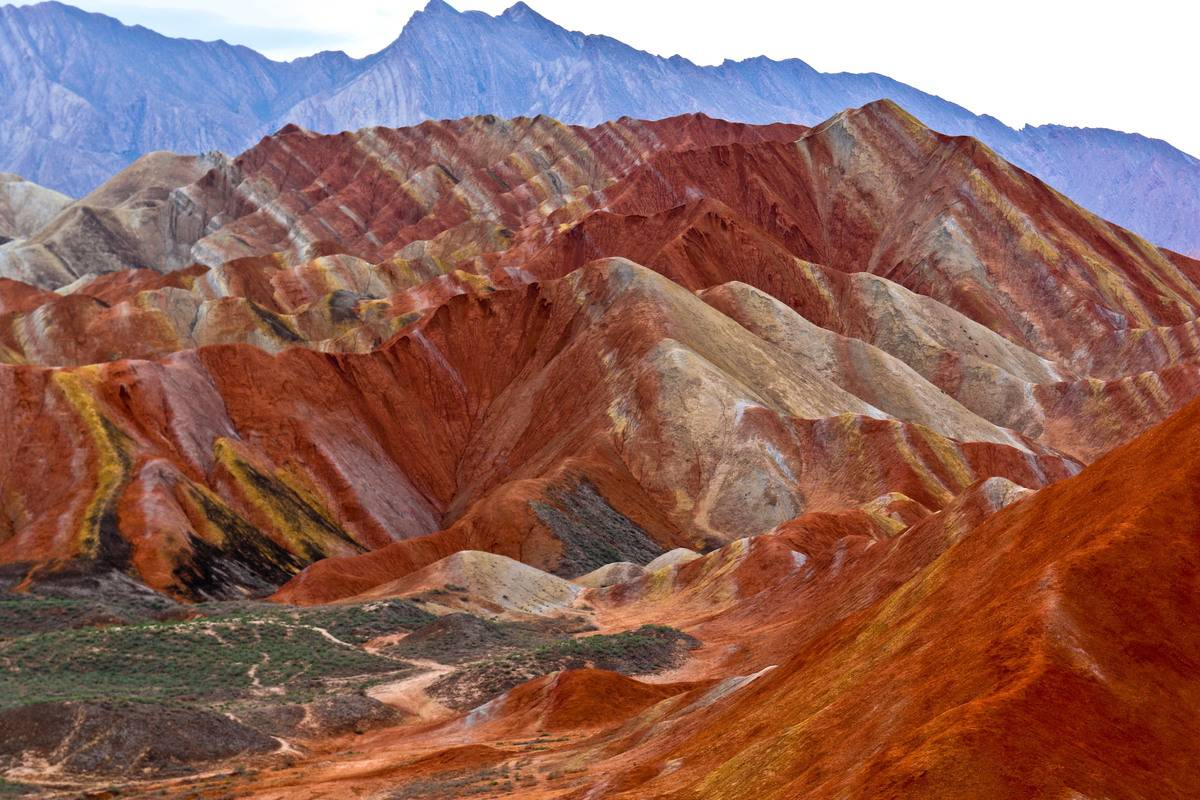 danxia geological park in zhangye chinia