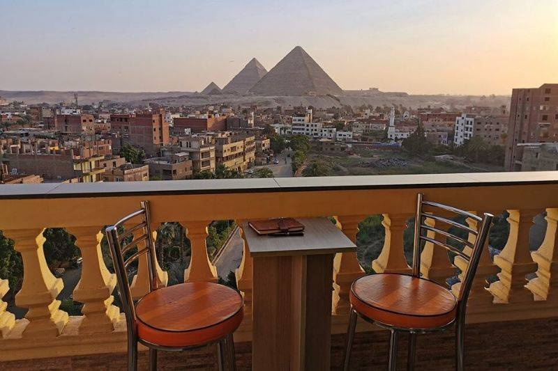 Giza Egypt view from the window