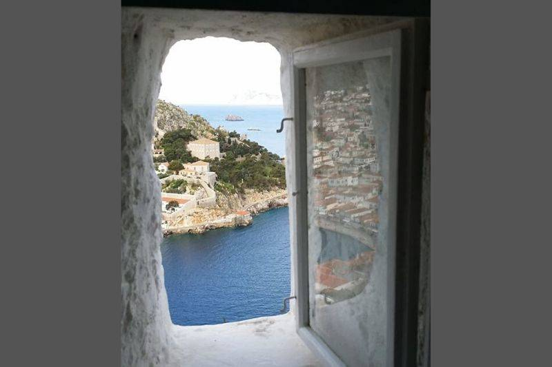 Hydra Greece view from the window