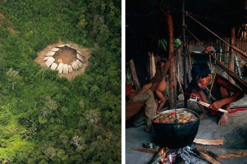 photos of yanomani village