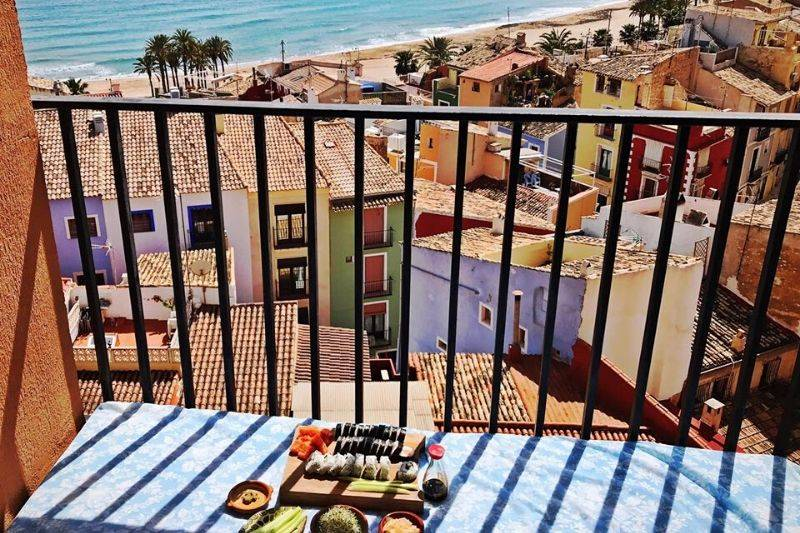 Villajoyosa Spain view from the window