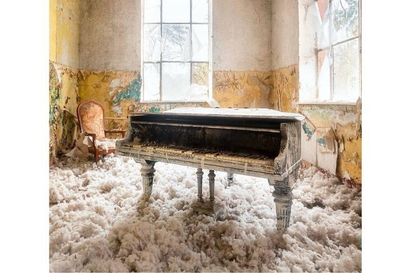 cloudy piano in abandoned home