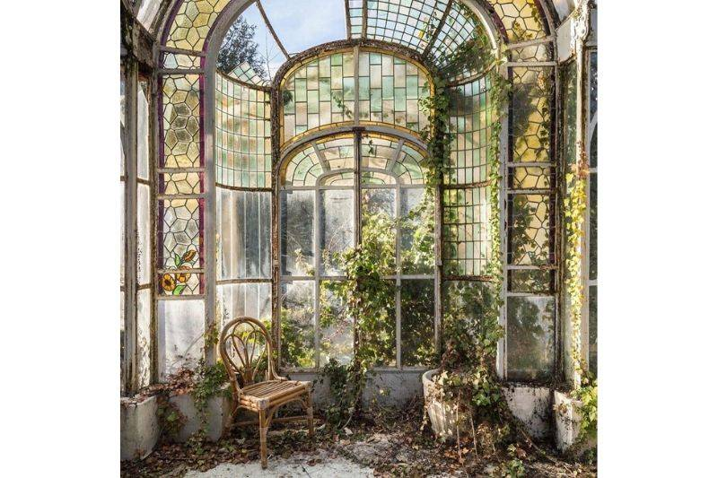 french winter garden abandoned