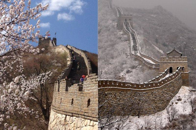 great wall of china spring and winter