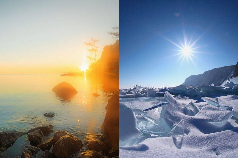 lake baikal winter vs summer