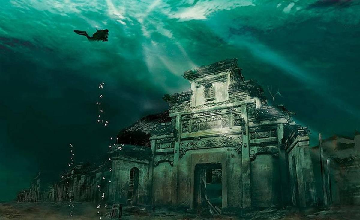 underwater city in china