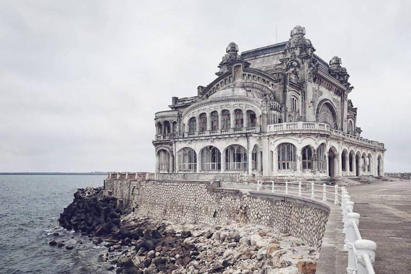 seaside abandoned house under renovation