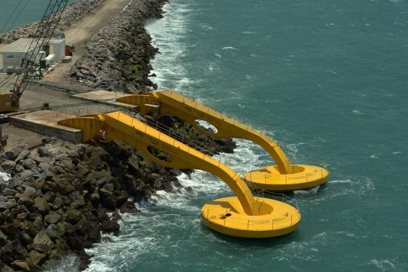 A device in Brazil harnesses wave energy.