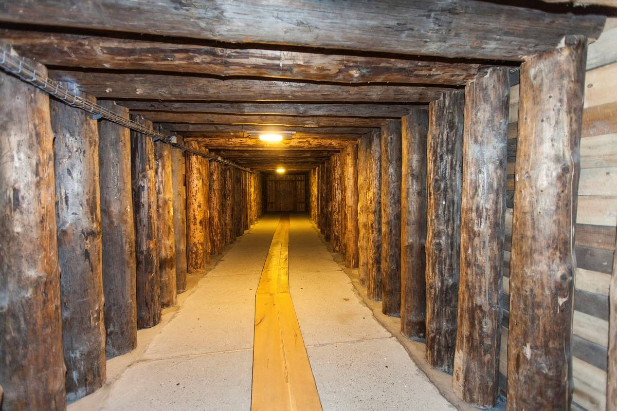passageway down into mines