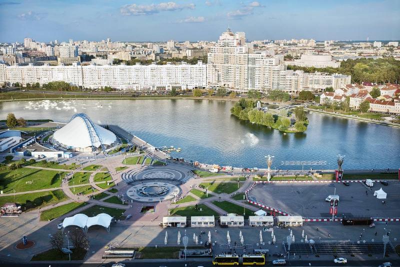 overhead shot of Central Minsk