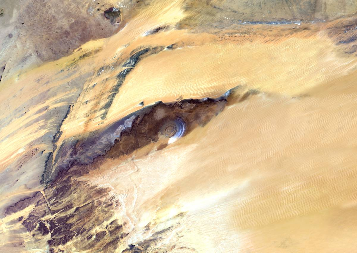 Richat structure in Africa