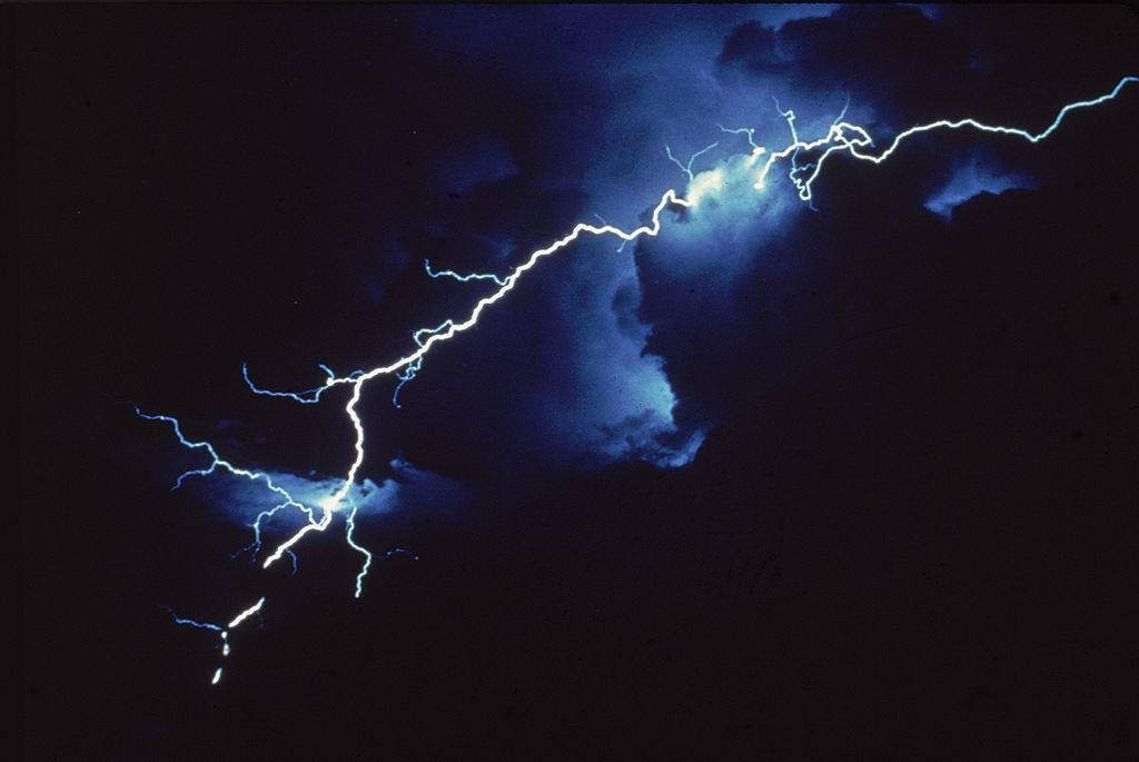lightning in clouds