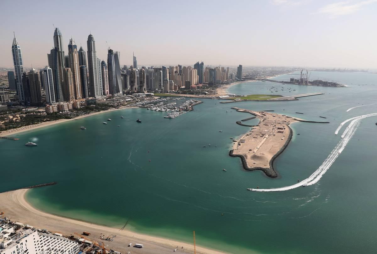 The skyline of Dubai Marina