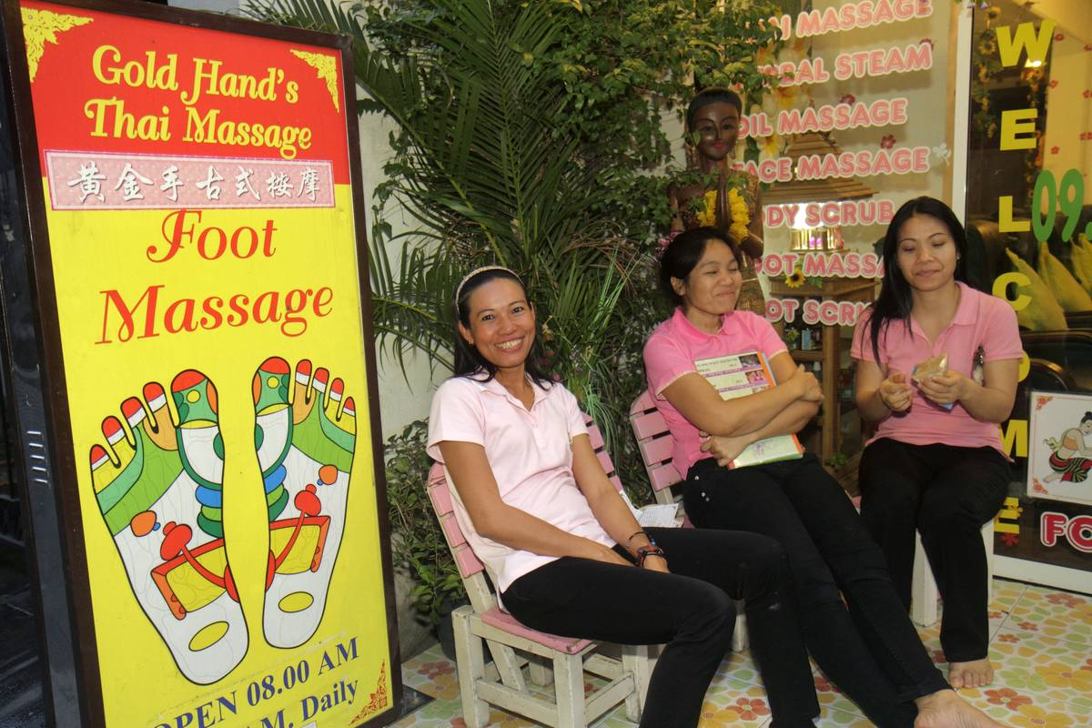 A foot massage sign on Rama 1 Road