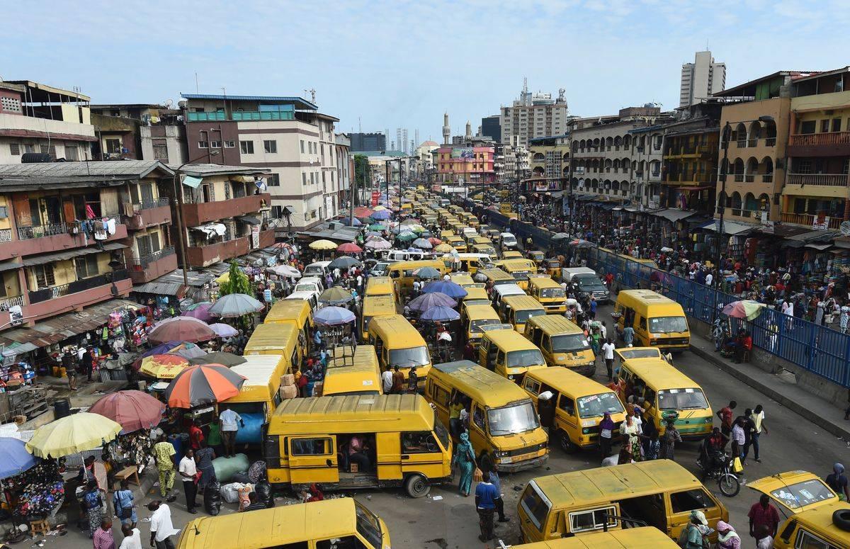 traffic filled street