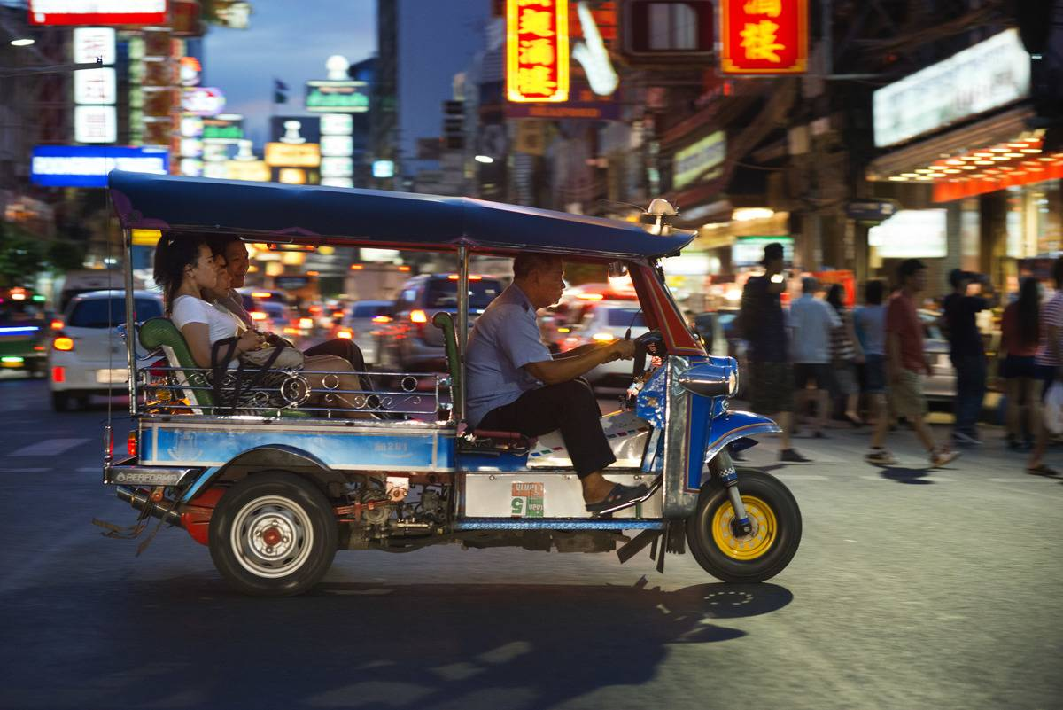 Tuk tuk in the street