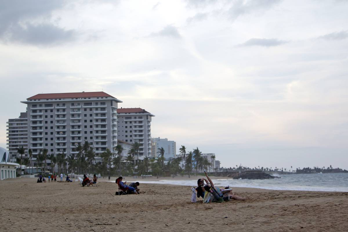 beach in the tourist zone of El Condado in San Juan