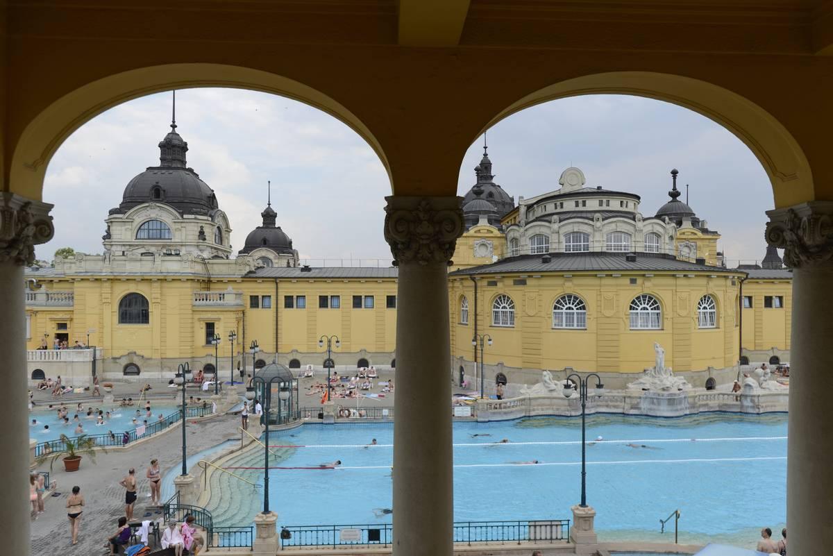 View of the Szechenyi Bath
