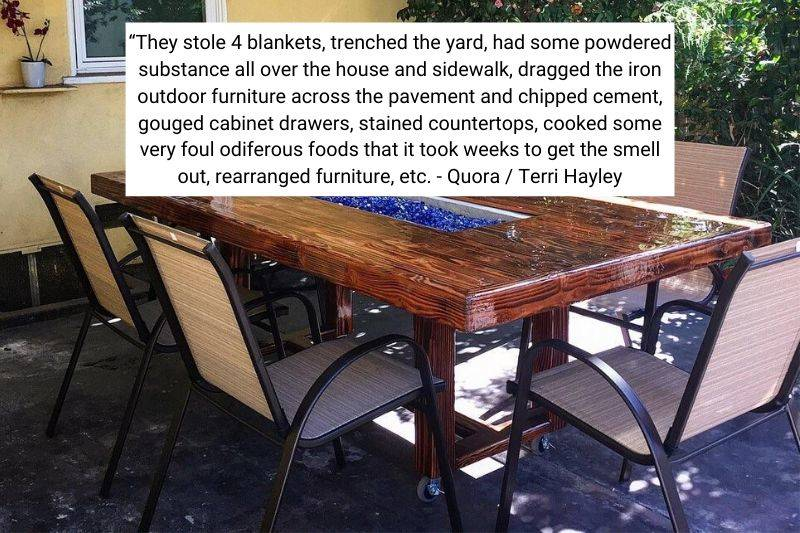 patio furniture table
