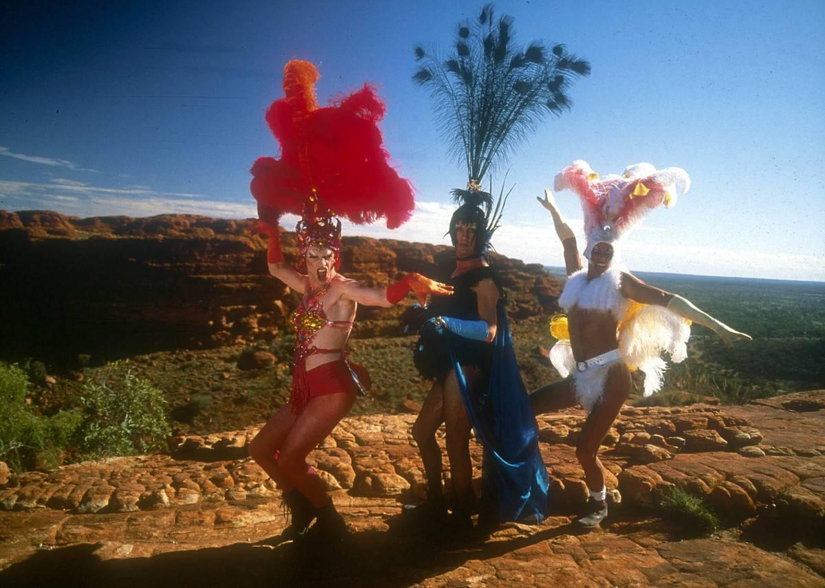 still from The Adventures of Priscilla Queen of the Desert