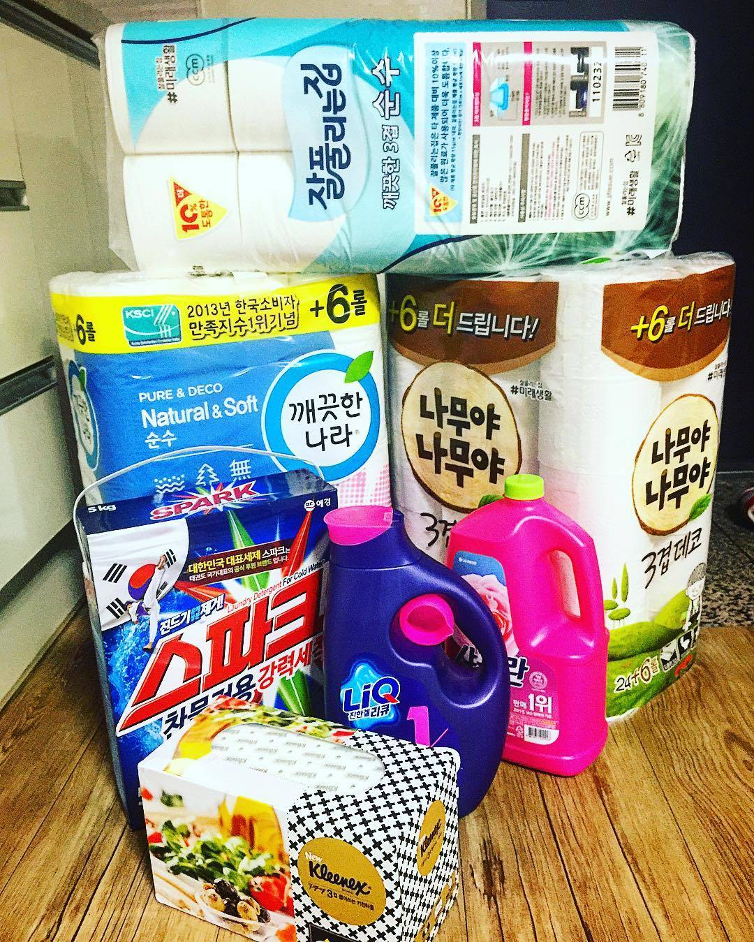 toilet paper and detergent south korea