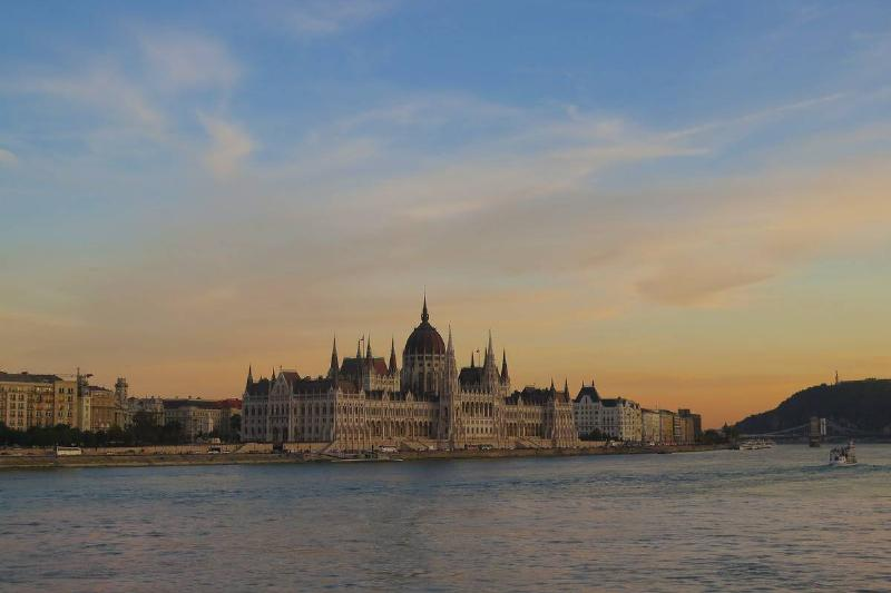 budapest hungary across the water