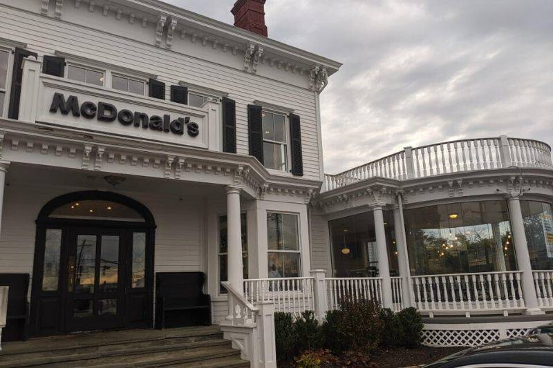 a McDonald's that used to be a funeral home