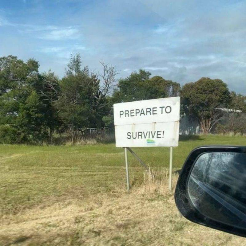 a sign that says,