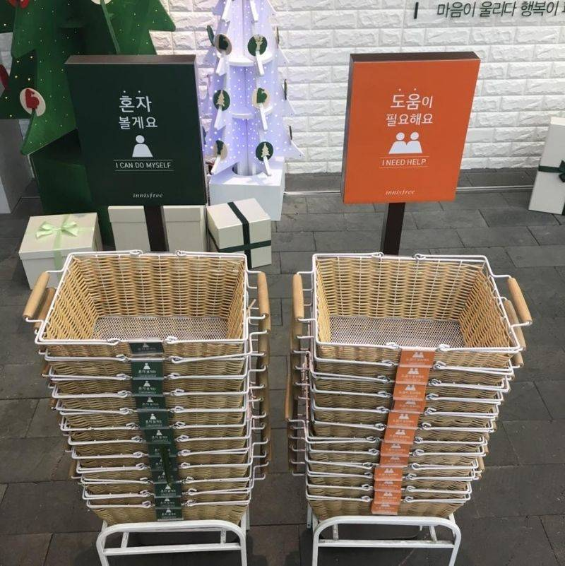 baskets that are different colors depending on your needs