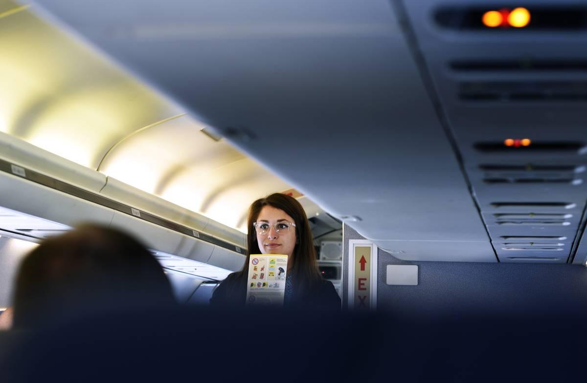 denver plane flight attendant