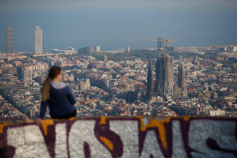 The Sagrada Familia is pictured in Barcelona