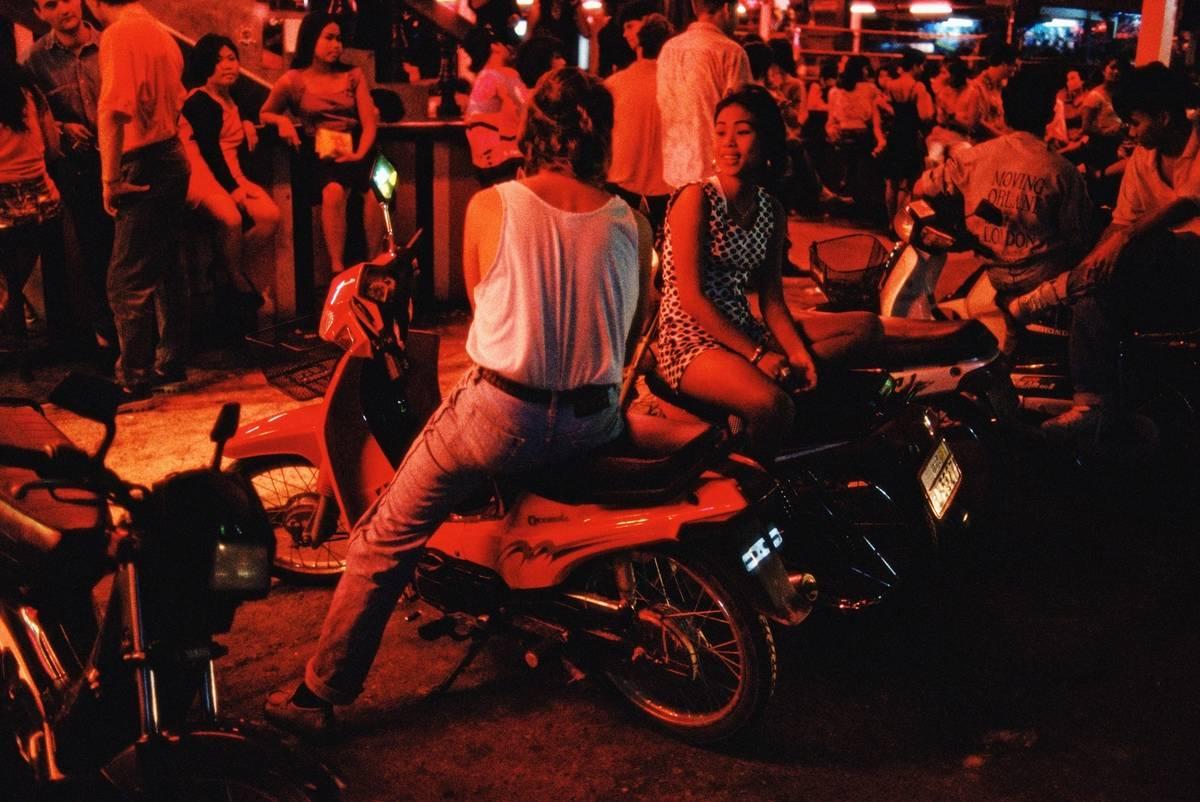 thailand tourists on motorbikes