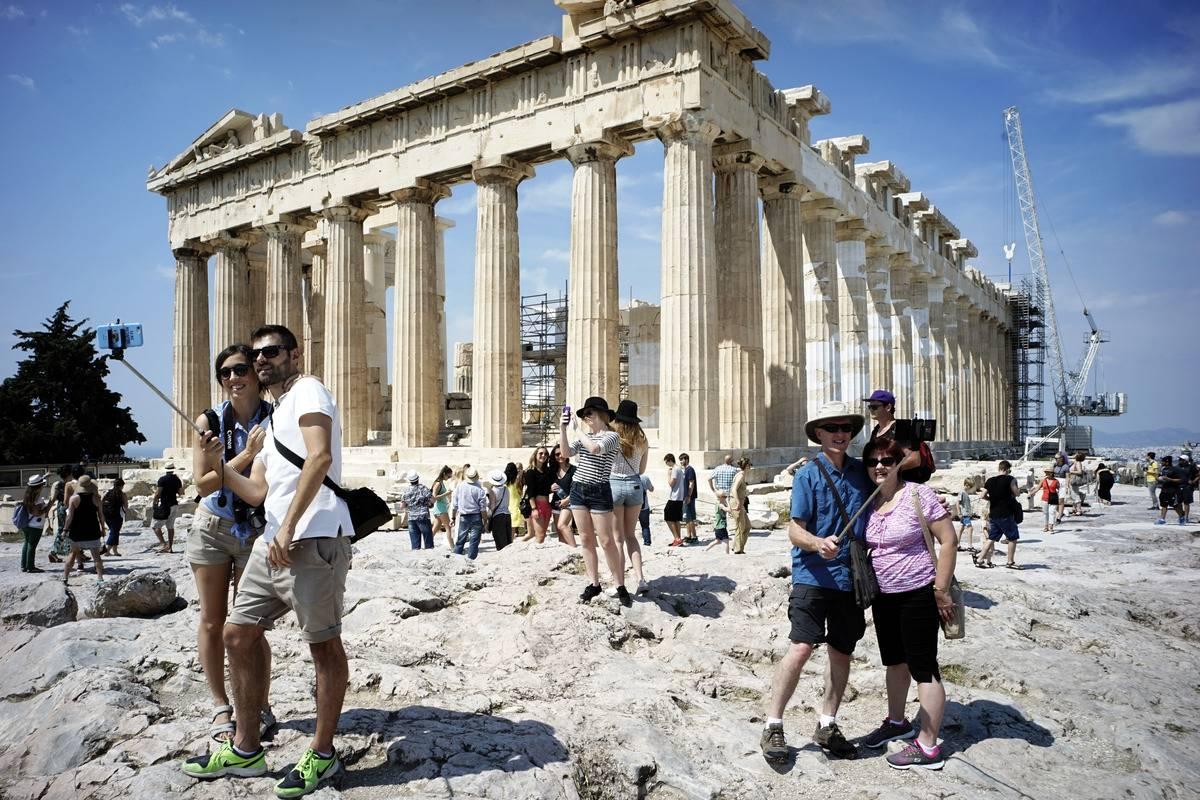 acropolis hill athens greece