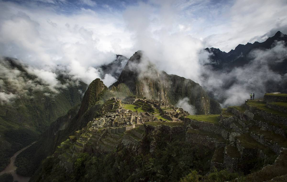 The Inca ruins of the Machu Picchu sanctuary