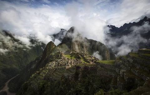 The Inca ruins of the Machu Picchu sanctuary