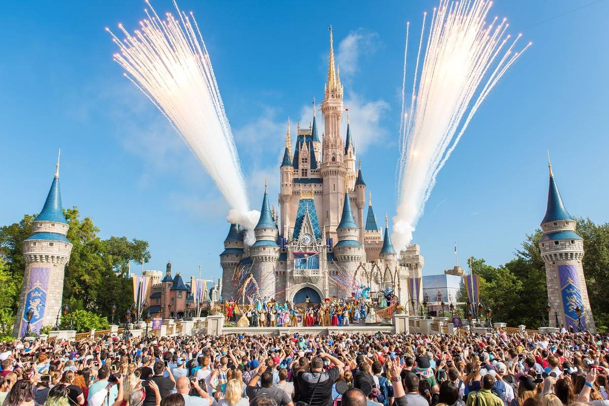 disney world castle spectacle in florida